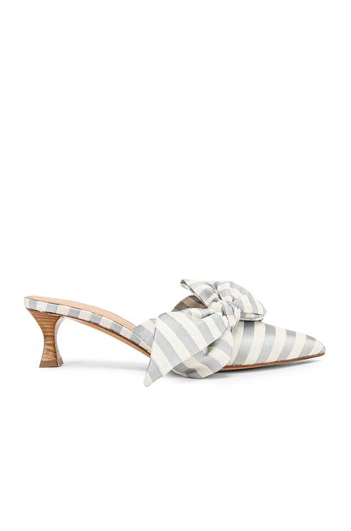 Brock Collection Tess Stripes Bow Heels