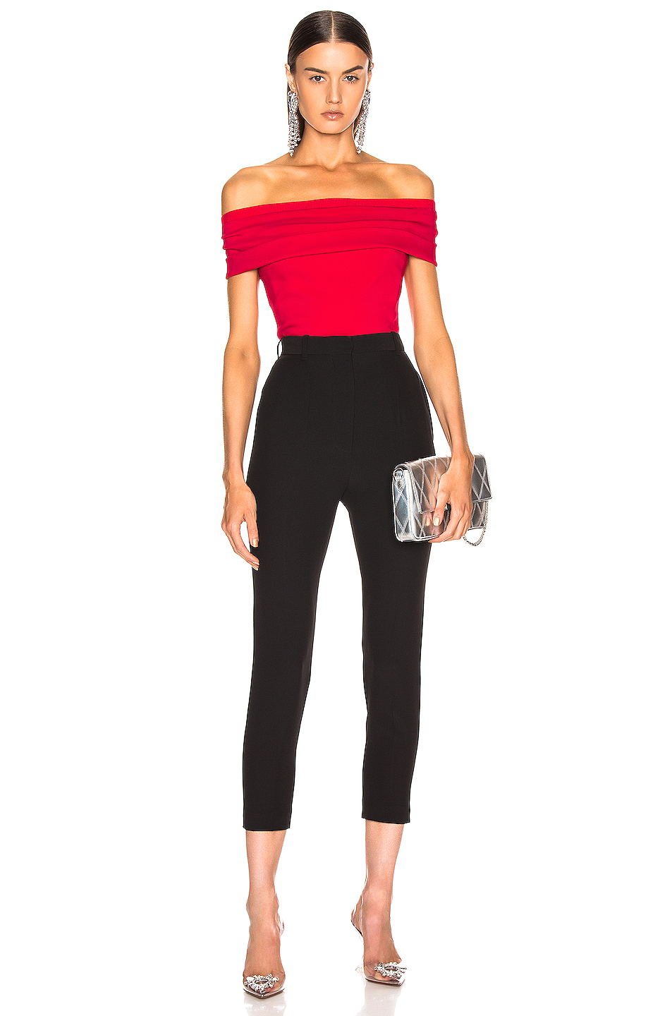 Cushnie Off Shoulder Peplum Top