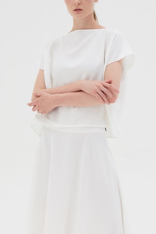 Shopatvelvet Uniform Top White