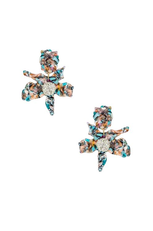 Lele Sadoughi Crystal Lily Clip On Earring