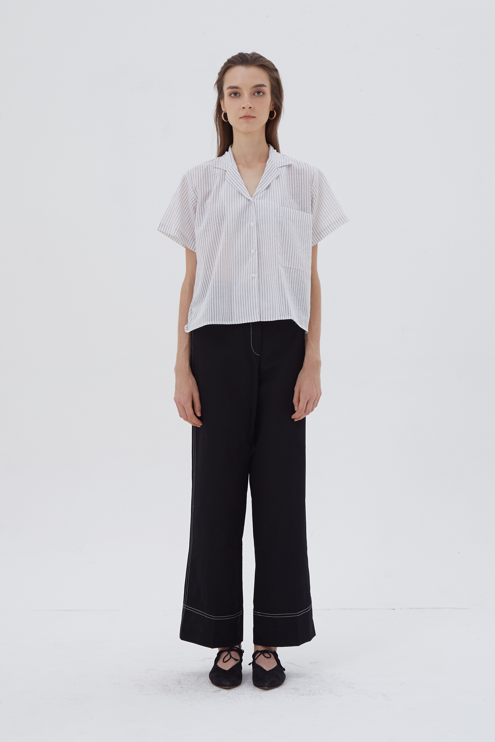 Shopatvelvet Textual Shirt Stripe