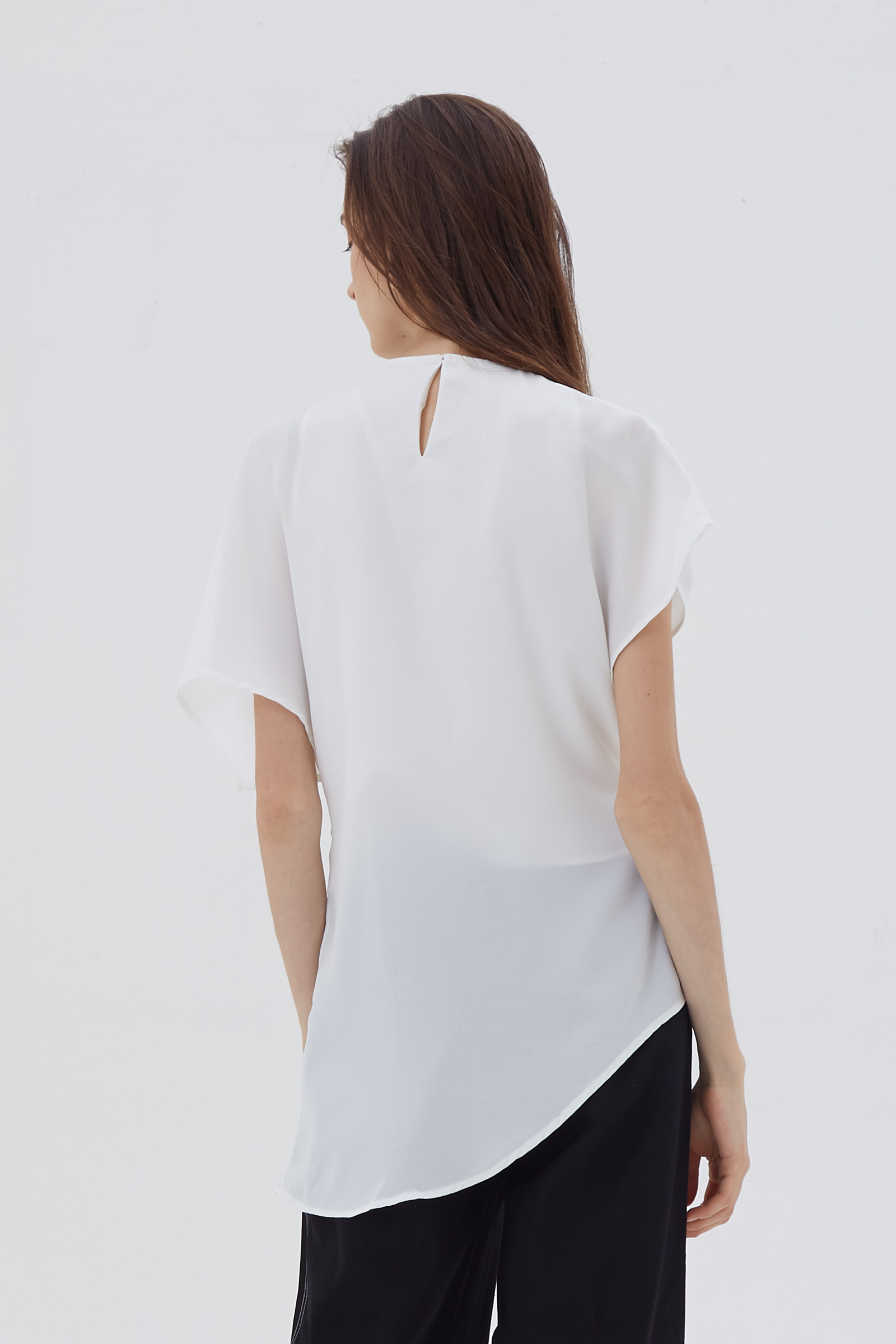 Shopatvelvet Twist Top White