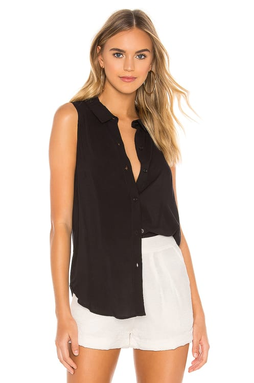 BCBGeneration Drawstring Sleeveless Top