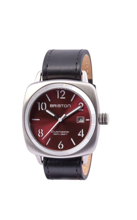 BRISTON Briston Clubmaster Classic Steel HMS Red Sunray Dial 40mm