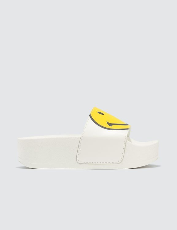Joshua Sanders White Macro Smile Sandals