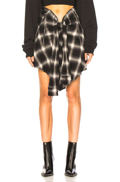 Amiri Plaid Waist Shirt