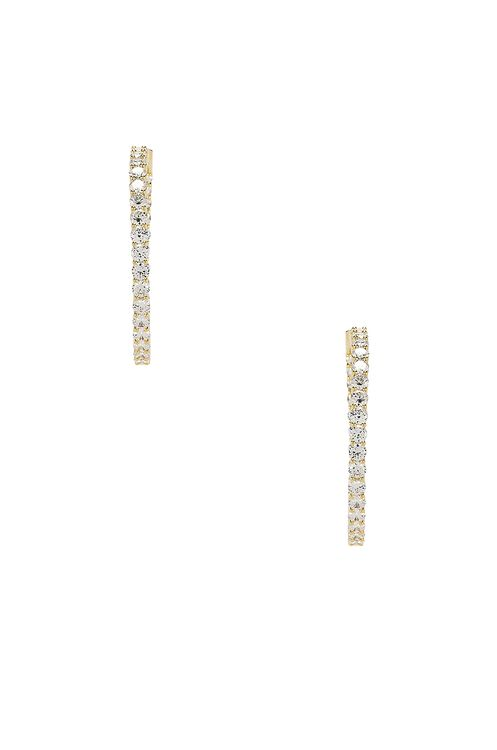 The M Jewelers NY The Large Pave 925 Hoops