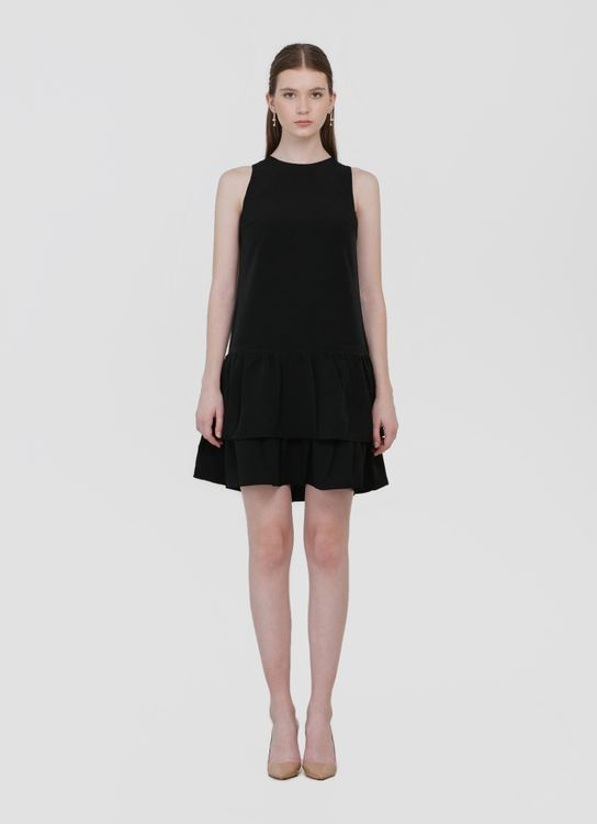 CLOTH INC Hannah Ruffle Dress - Black