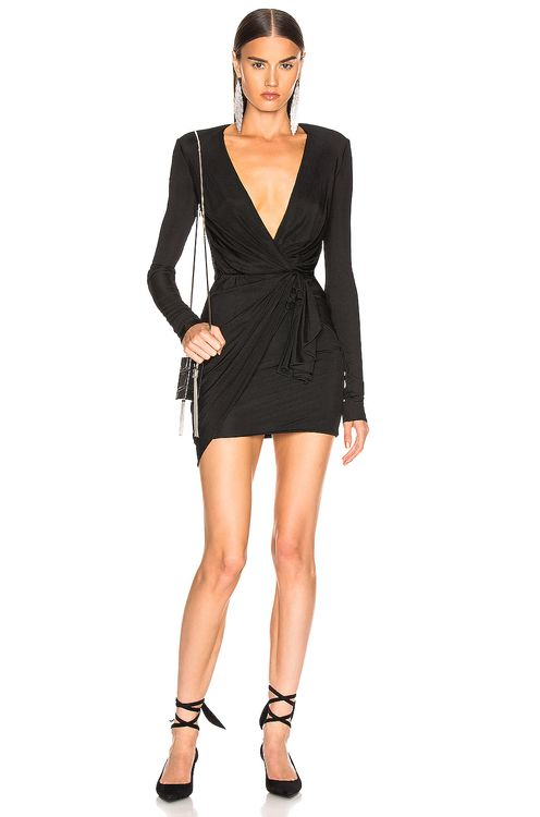 ALEXANDRE VAUTHIER Plunging Wrap Mini Dress