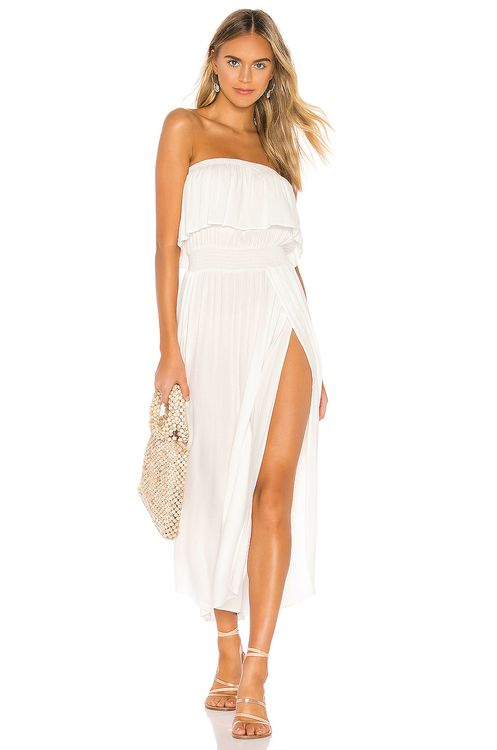 bobi Beach Crepe Maxi Dress