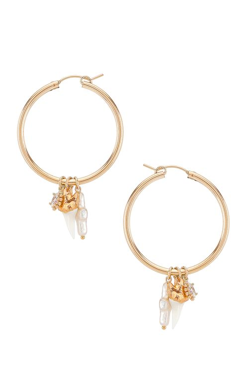 Child of Wild Martello Shark Hoop Earrings