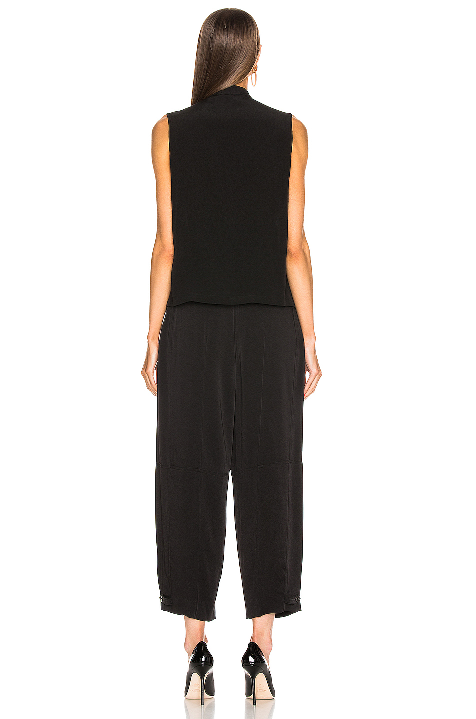 Givenchy Cropped Sleeveless Scarf Top