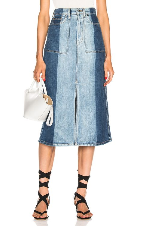 Proenza Schouler PSWL Slit Denim Skirt