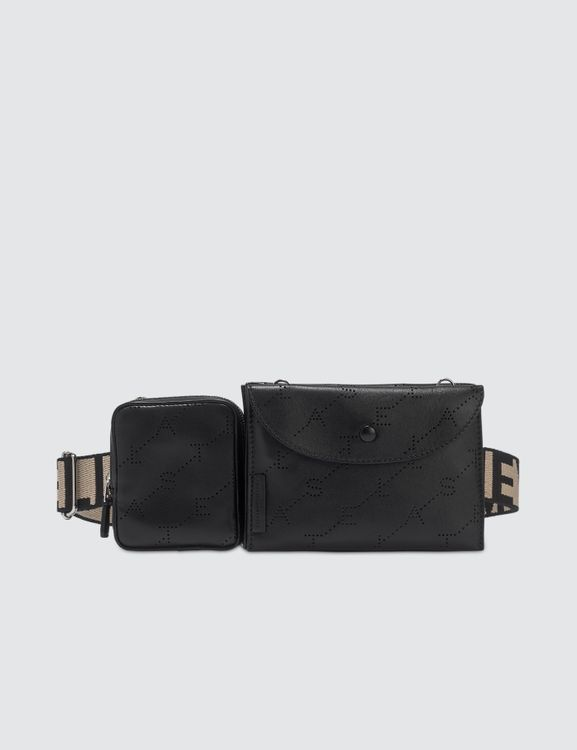 Stella McCartney Monogram Utility Belt Bag in Black