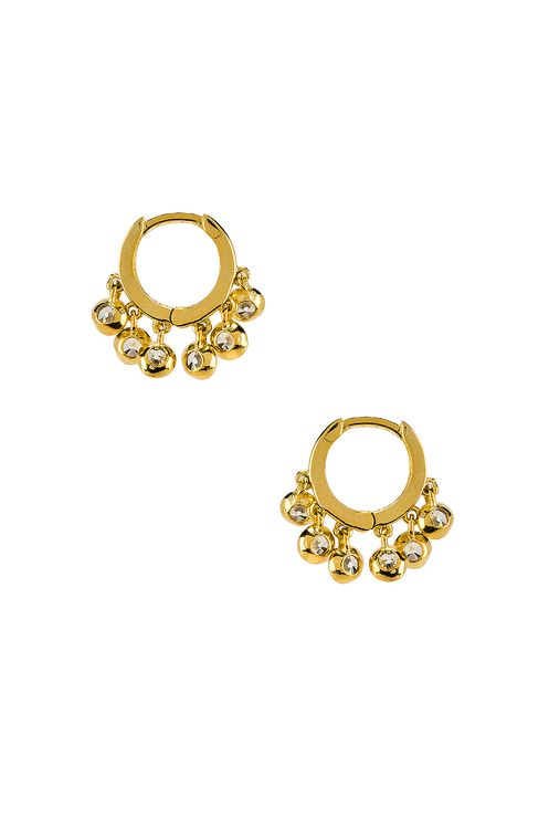 The M Jewelers NY Tiny Pave Huggie Earrings