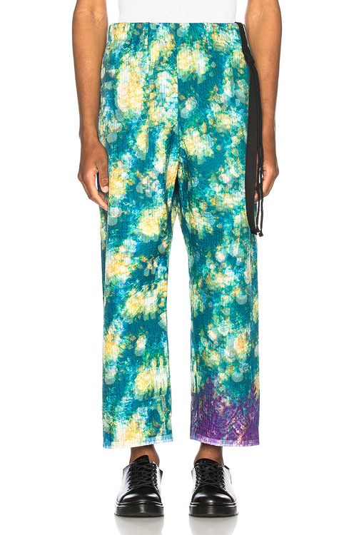 Craig Green Vibrating Floral Line Stitch Trousers