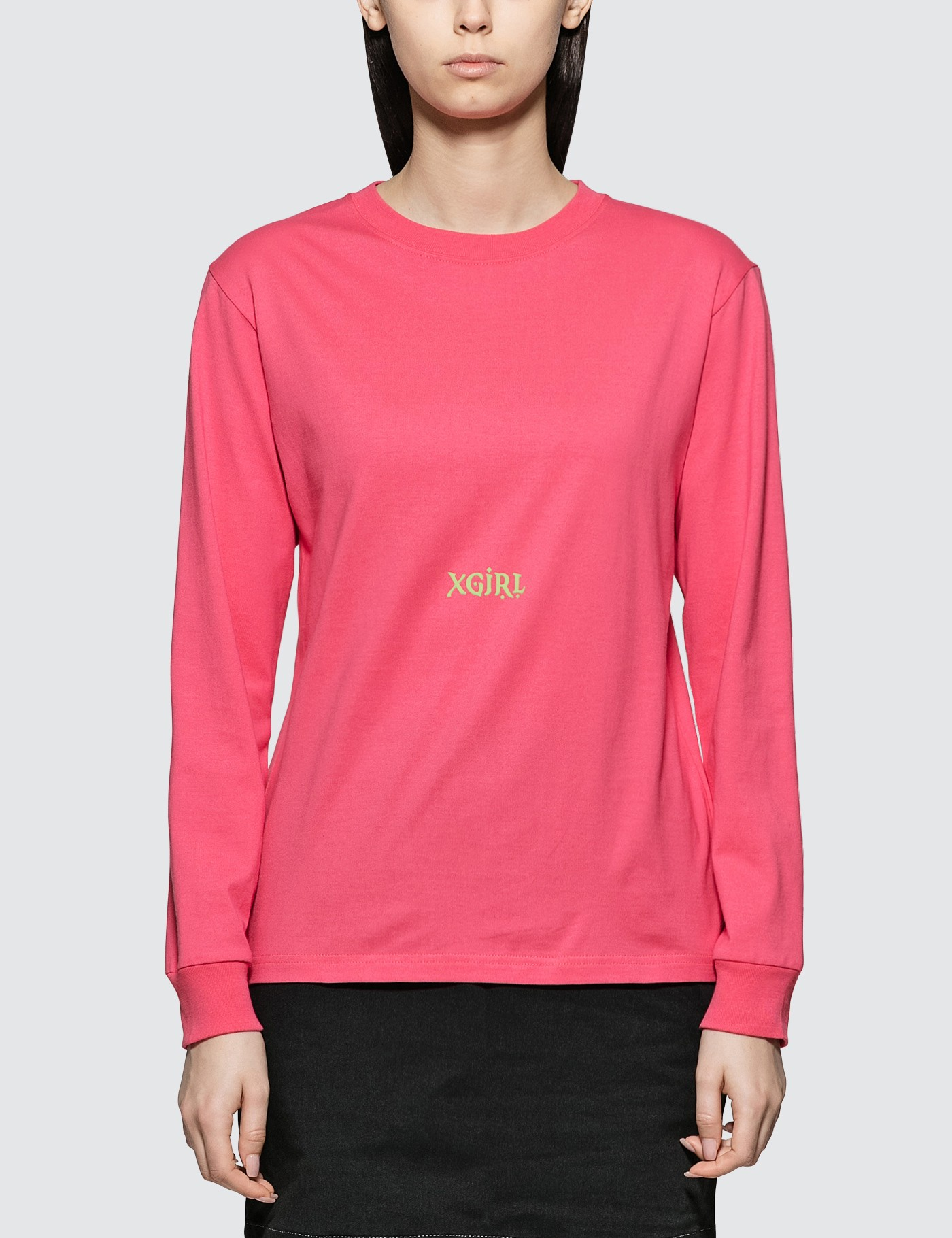 813e3d730379 Buy Original X-Girl Letters Long Sleeve T-shirt at Indonesia