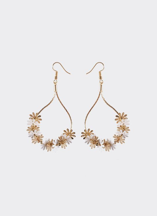 By Jowe Latoya Earrings - White Gold