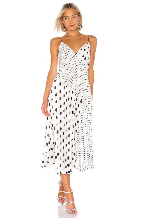 Jill Jill Stuart Pleated Polka Dot Dress