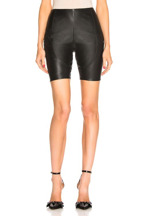 AREA Leather Bike Short
