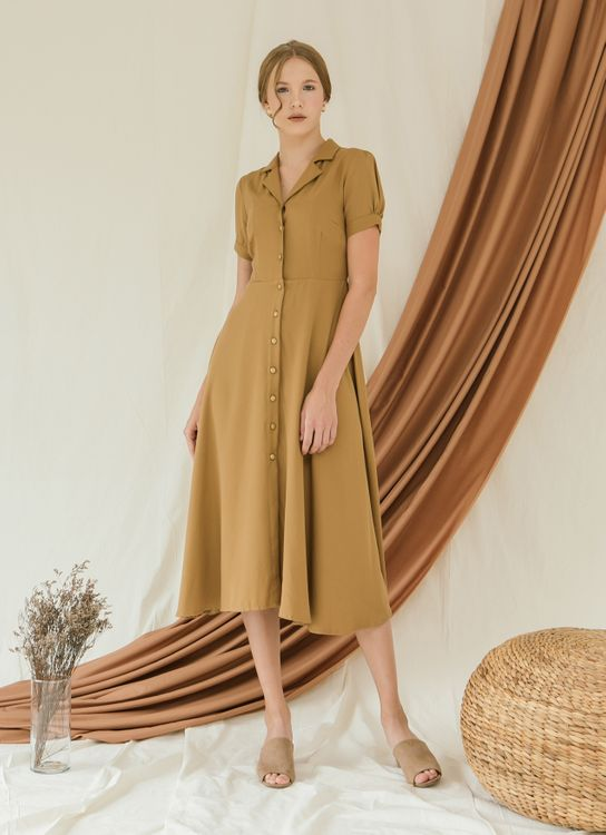 Zete Ancelin Dress - Peanut