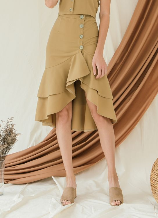 Zete Glory Skirt - Warm Olive