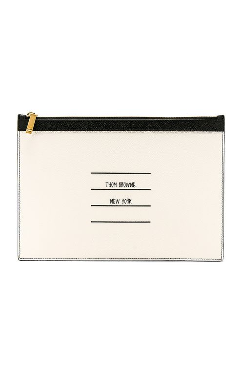 Thom Browne Small Zipper Tablet Pouch