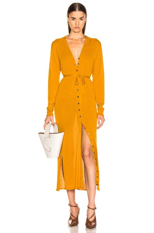 Lemaire V Neck Cardigan Dress