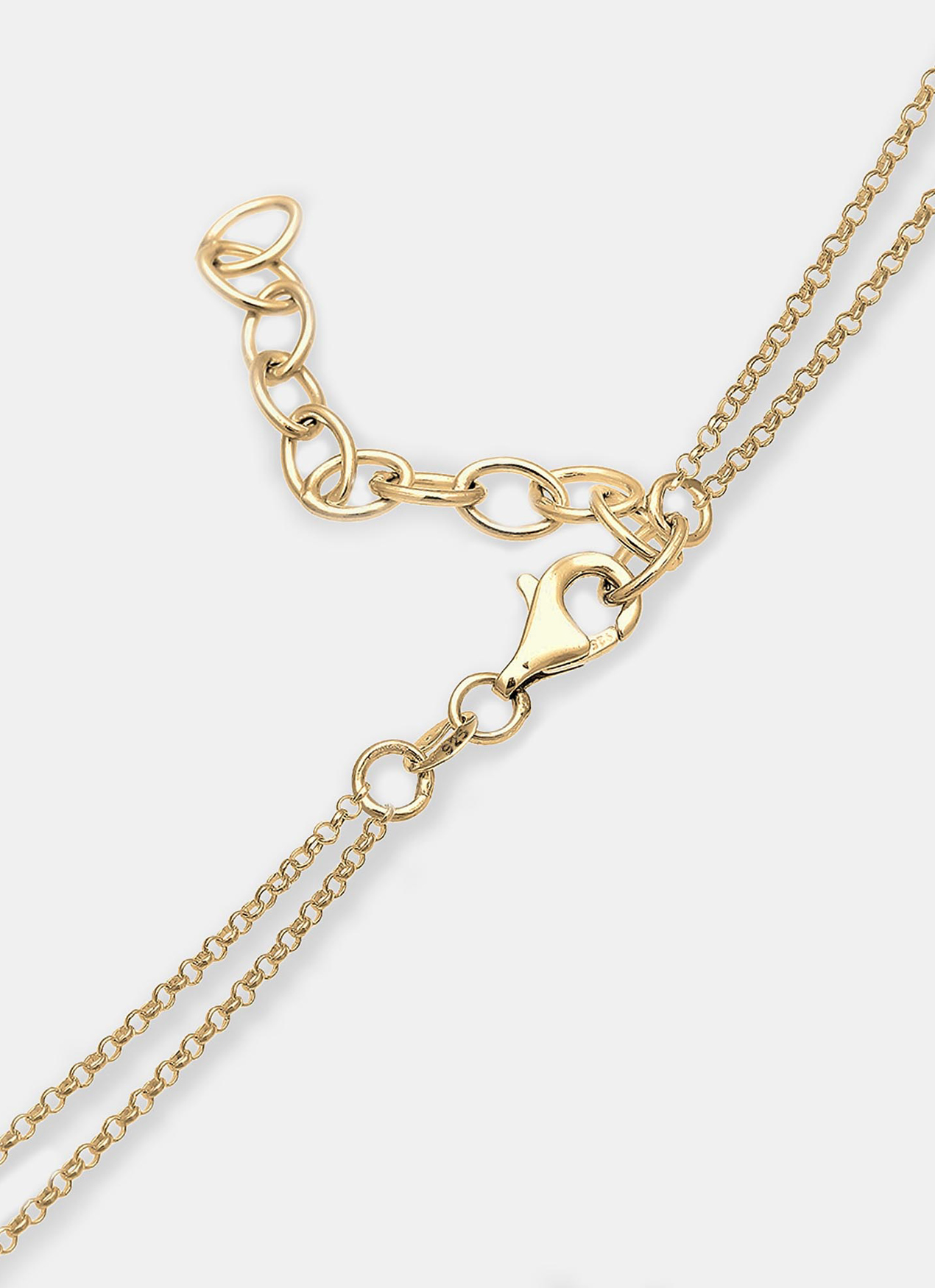 Elli Germany Triangle Square Geo Layering Necklace - Gold