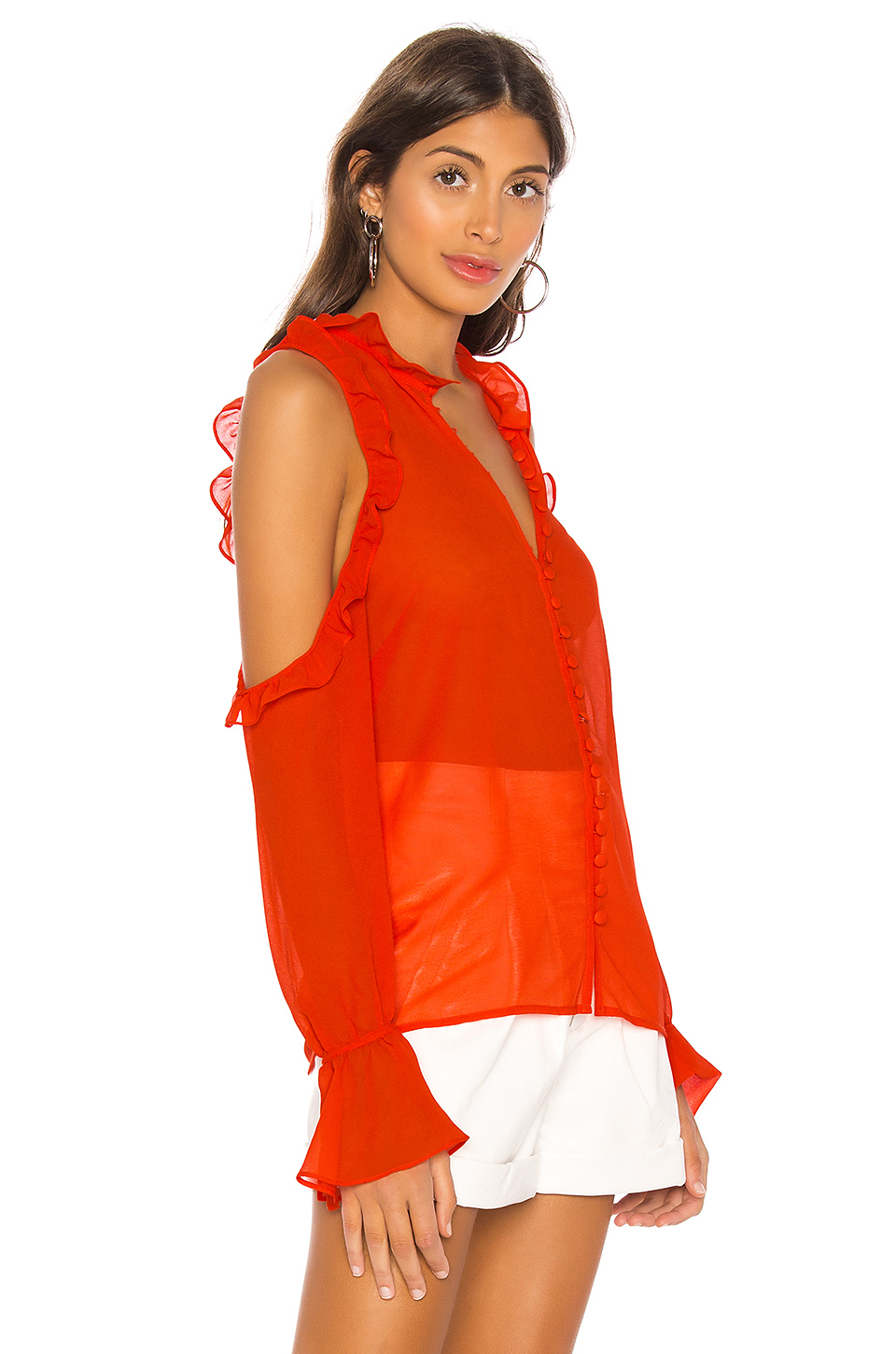 L'Academie The Bell Button Up Blouse