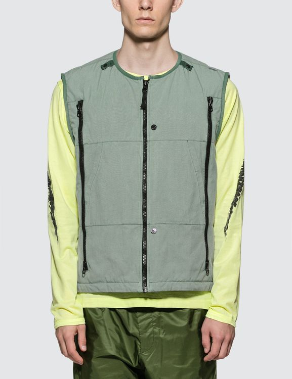 Stone Island Shadow Project Sage Green Padded Vest