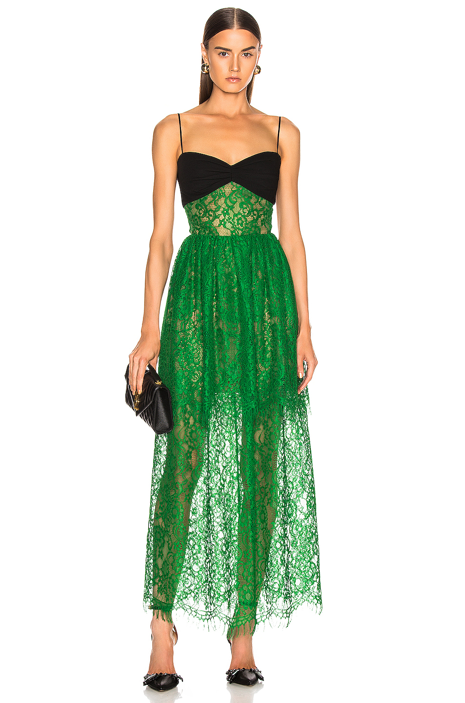 customers first website for discount shop for newest Bustier Lace Maxi Dress, RASARIO
