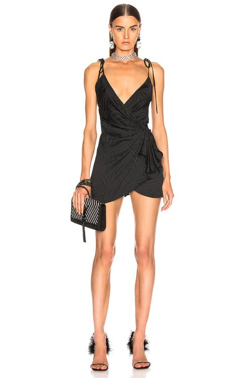 Attico Zebra Jacquard Mini Slip Dress