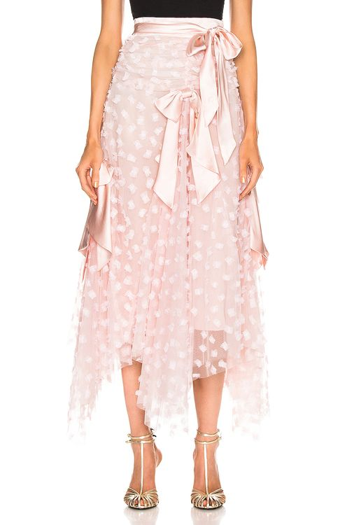 Rodarte Embroidered Bow Skirt