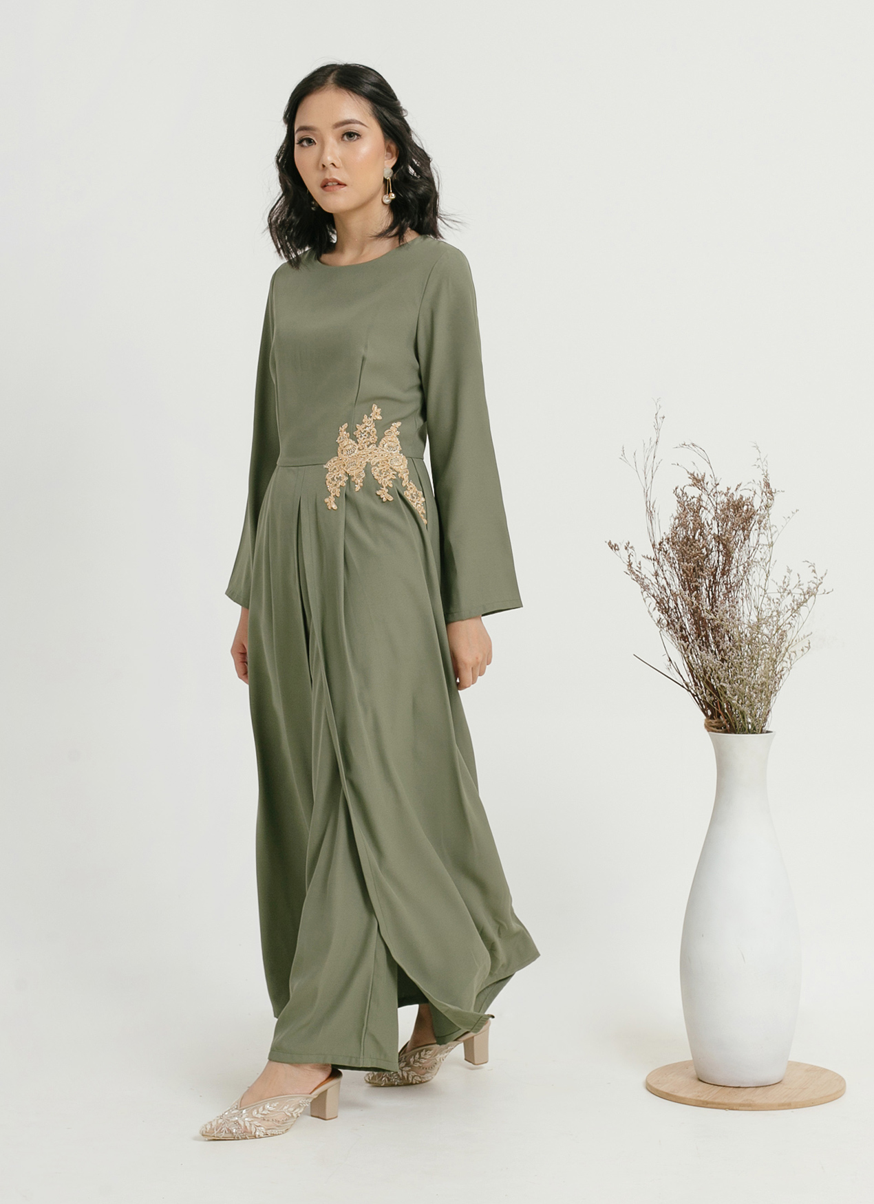 CLOTH INC Kendra Jumpsuit - Pine Green