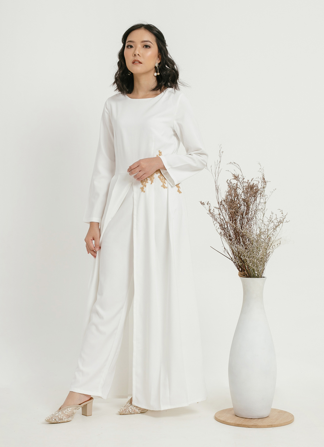 CLOTH INC Kendra Jumpsuit - White