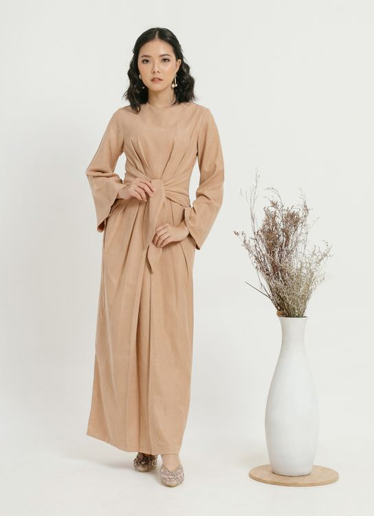 CLOTH INC Faye Tied Dress - Brown