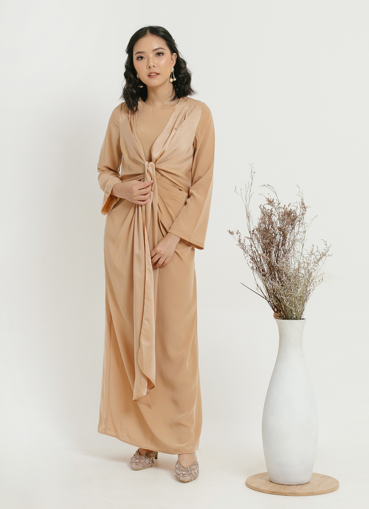 CLOTH INC Oona Gold Dress - Gold
