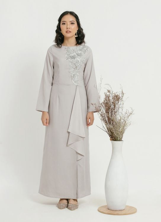 CLOTH INC Lanina Appliqued Dress - Silver