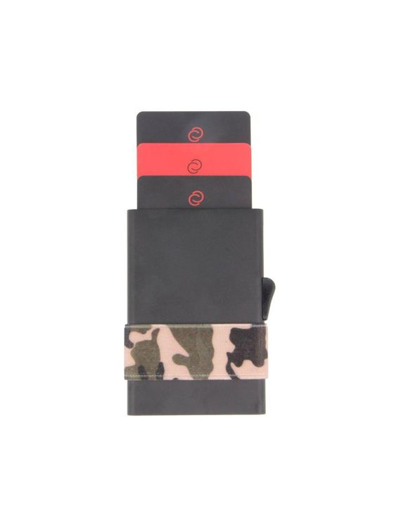 C-Secure C-Secure Aluminium RFID Cardholder With Money Band Black Camo