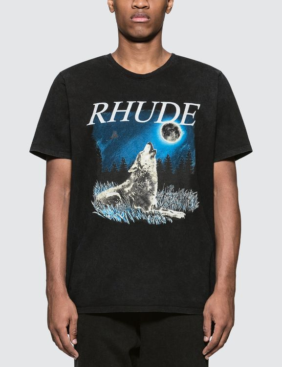 Rhude Wolf with The Moon S/S T-Shirt