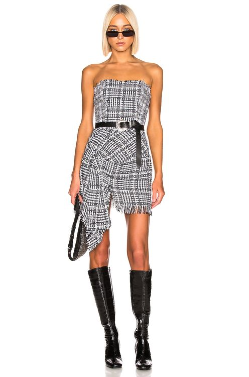 Faith Connexion Tweed Bustier Dress