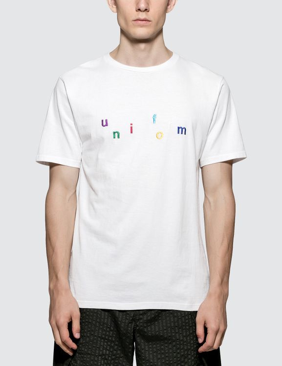 uniform experiment Colorful Embroidery T-Shirt