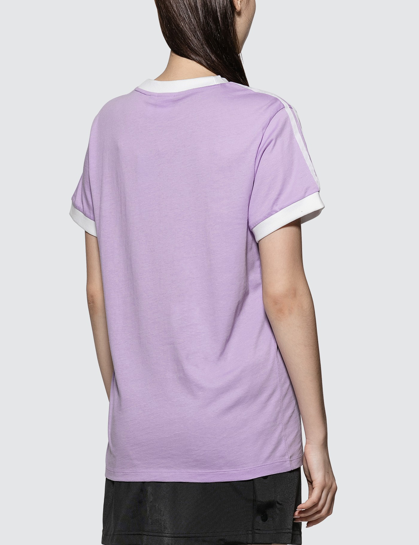 Adidas Originals Soft Purple 3 Stripes T-shirt