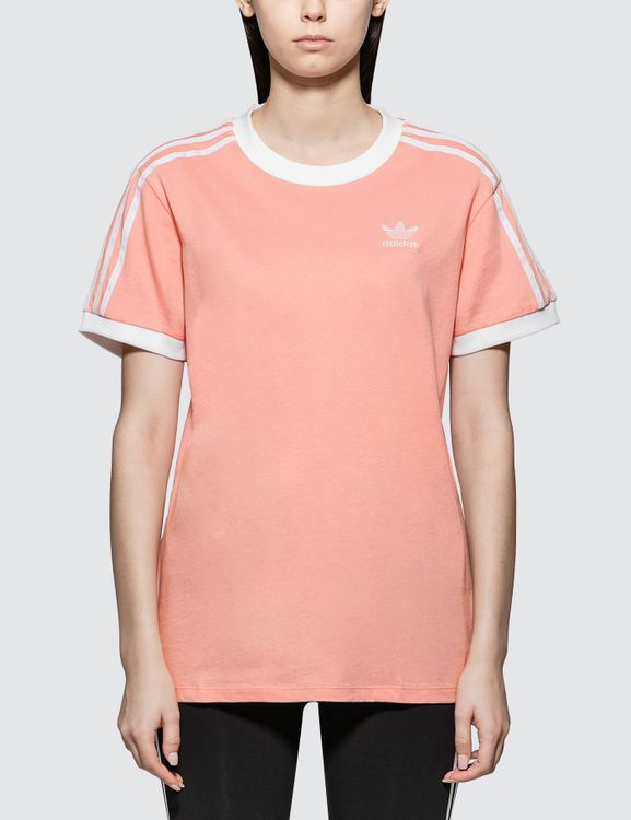 Adidas Originals Dusty Pink 3 Stripes T-shirt