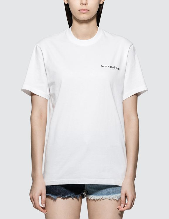 have a good time White Side Logo Short Sleeve T-shirt