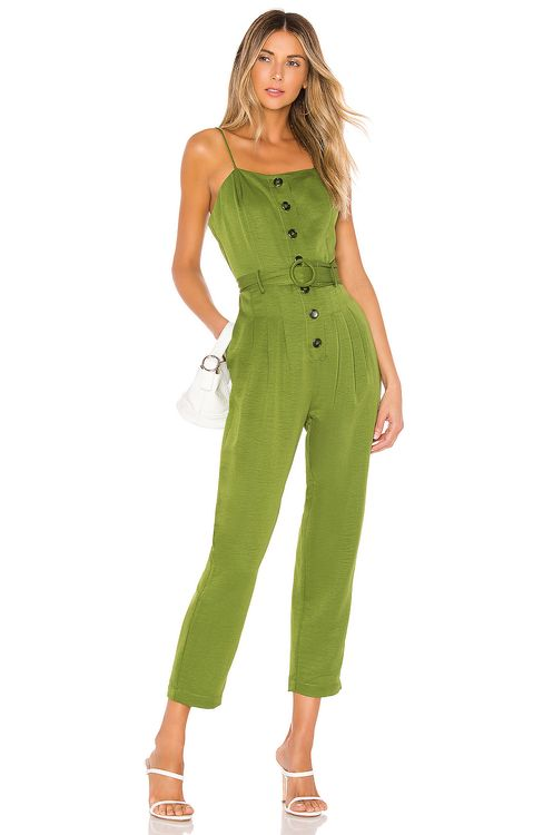 J.O.A. Strapless Belted Jumpsuit