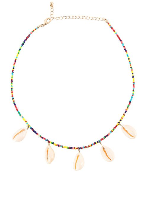 EIGHT by GJENMI JEWELRY Rainbow Beaded Shell Choker