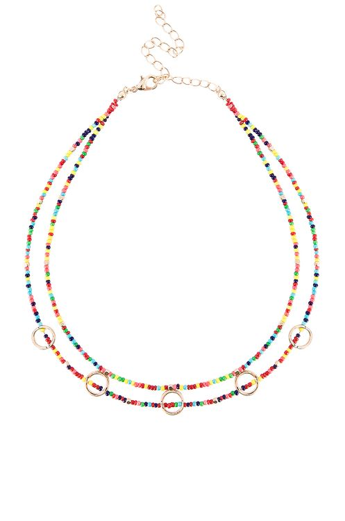 EIGHT by GJENMI JEWELRY Rainbow Party Choker