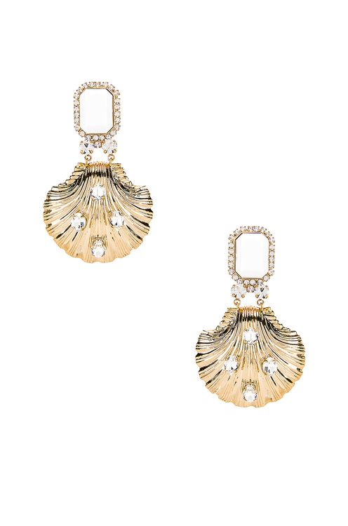 Alessandra Rich Shell Earrings